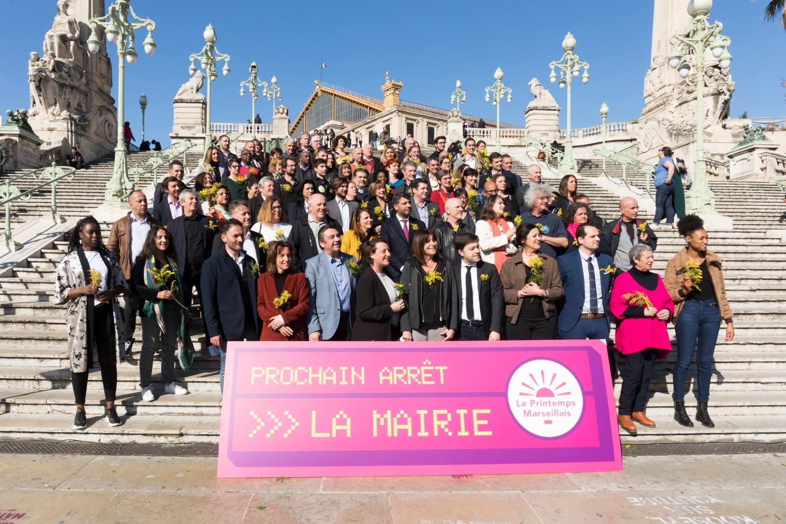 Discours de Michèle Rubirola devant les 101 candidats au conseil municipal